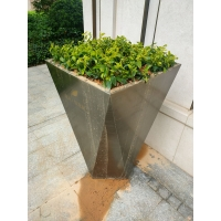 倾斜花盆佛山花盆订制 小区花箱 绿化工程花器花桶套盆 组合花