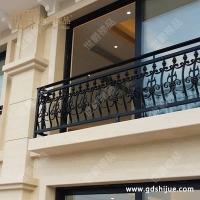 定制别墅阳台护栏小区铝艺护栏栏杆 欧式铝合金阳台围栏