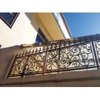 青古铜油漆佛山铝合金护栏 砂铸花板别墅阳台栏杆