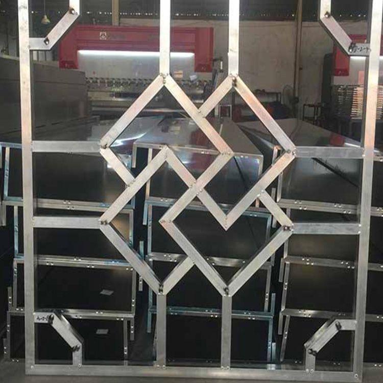 厂家方通镶边镂空铝窗花 定制仿古雕花铝单板