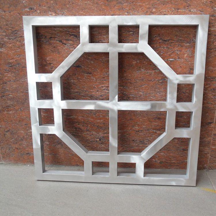 铝窗花厂家 定制铝方通焊接铝窗花