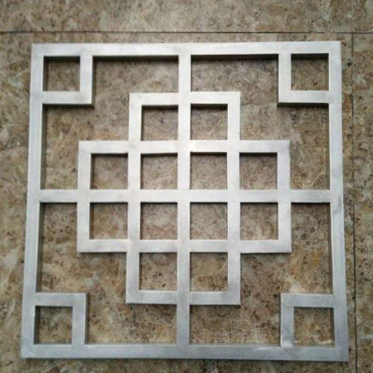 外墙铝方管 喷涂色铝圆管 铝窗花 弧形铝方通铝材