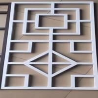 弧形方通雕花板铝窗花 仿古铝单板窗花