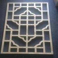 外墙铝方通 焊接铝窗花 木纹型材铝方管 复古铝窗花