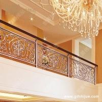 镂空阳台护栏 铝合金雕花护栏 阳台栏杆