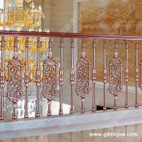 铸铝雕花立柱 高档栏杆立柱 铝艺楼梯立柱