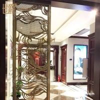 定制铝合金中式屏风隔断 客厅玄关隔断屏风 镂空屏风