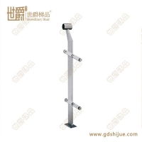 不锈钢防护栏支柱 工程栏杆立柱