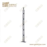 定制简约不锈钢立柱 全实心配件 工程用楼梯立柱