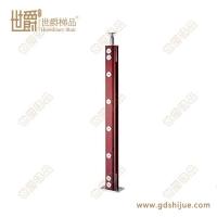 实用工程护栏立柱 装饰楼梯栏杆 不锈钢夹木立柱