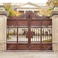 定制生产金属大门 铸铝庭院门 高档豪华铝门