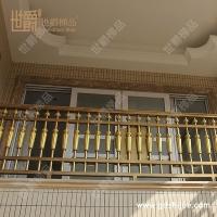 小区住宅铝艺阳台围栏 别墅阳台铝合金防护栏