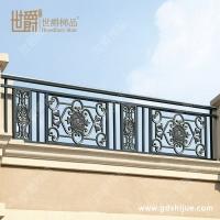 小区家装阳台护栏 别墅铝合金护栏 锌钢阳台栏杆精美雕花阳台护