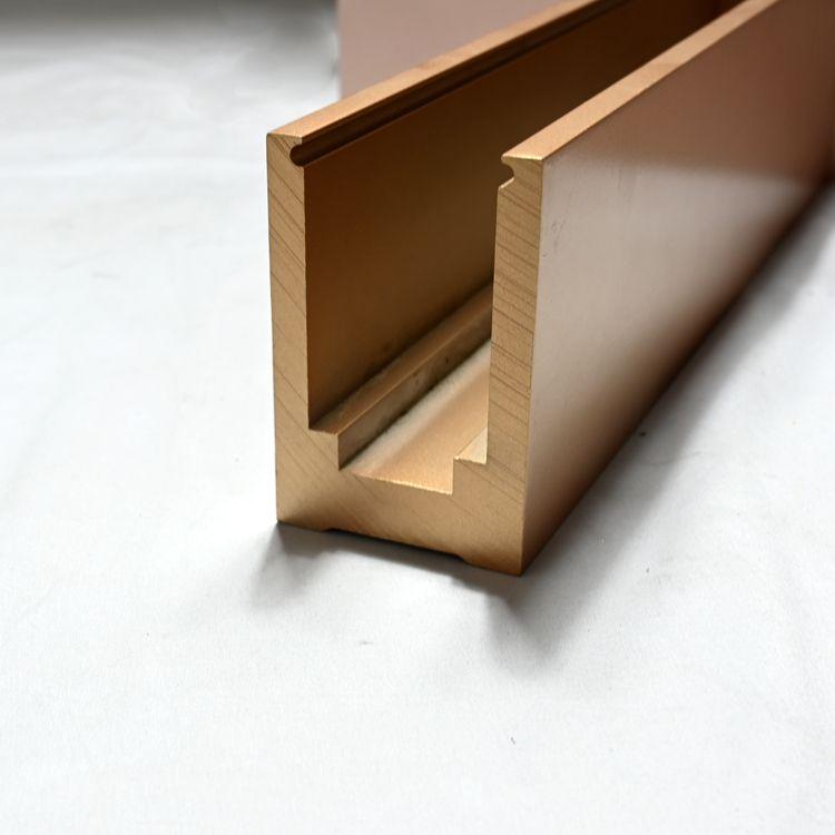 别墅室内楼梯U型底槽 铝合金u型夹边落地玻璃栏杆地槽