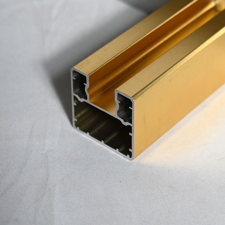 定制楼梯无框玻璃护栏U型槽 铝合金凹型落地固定夹边底槽