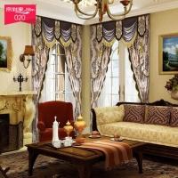 帘到家 L50 欧式古典 人造丝遮光落地窗窗帘定制 2322