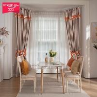帘到家 L41美式定制窗帘客厅卧室落地全遮光 纱BP2550