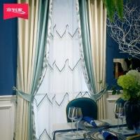 帘到家 L01北欧涤纶高遮光提花卧室客厅窗帘布 布 山岚