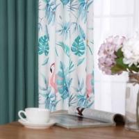 帘到家 L01 北欧定制印花窗帘半遮光窗帘布 热带雨林纱