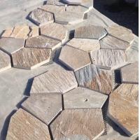 厂家销售 公园地铺石 冰裂纹碎拼石 厂家