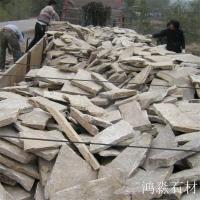 乱型石厂家销售 锈色碎拼石 红色花岗岩碎拼 厂家