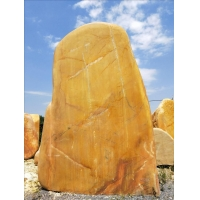 题名石 公园广场大型黄蜡石 门口标志石 刻字题名石