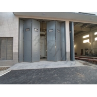 不銹鋼電動折疊門、不銹鋼廠房折疊門