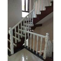 长沙实木楼梯批零实木楼梯扶手、别墅复式整体楼梯