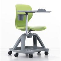 一體學生課桌椅 塑料360度旋轉培椅 高校新型學習椅