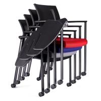 高档培训学习椅 可重叠培训室写字椅 带写字板会议多功能椅