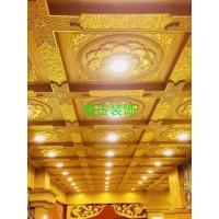 仿古彩繪天花板寺廟彩繪吊頂