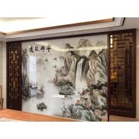 仿古家居新中式装修实木屏风、电视背景墙屏风