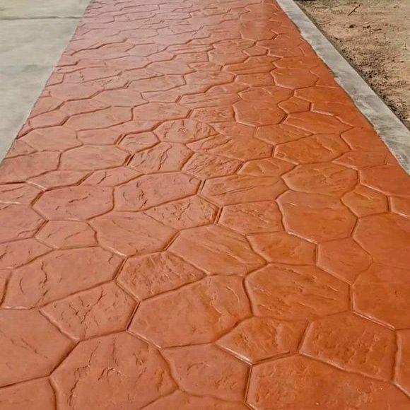 内江市压印路面厂家 彩色压模艺术地坪材料