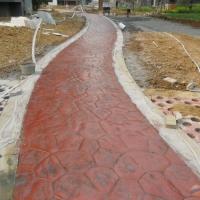 绵阳市压印混凝土价格 压模地面厂家 水泥压花地面多少钱