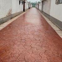 巫山县压模混凝土 压印混凝土材料 彩色压模地面