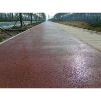 巫溪县 水泥压模地坪 彩色压模地坪材料 压花路面厂家