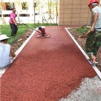 香格里拉市 彩色混凝土廠家  透水砼粘結料  送貨到工地