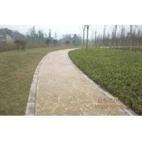 压模地坪印花地面压花地坪彩色水泥压模地坪 生态彩色混凝土