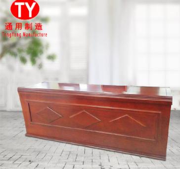 简约实木会议桌贴木皮电脑桌 实木长方形会议条桌 1.4长方形