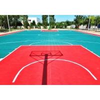 青岛丙烯酸篮球场地坪施工流程|羽毛球场地坪施工工艺