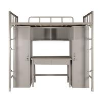 营房制式组合营具单人铁床宿舍双层高低床带书桌椅