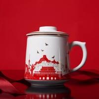 定做建国礼品茶杯,战友聚会纪念杯