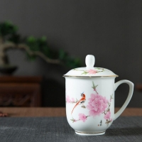景德镇陶瓷茶杯礼品加字