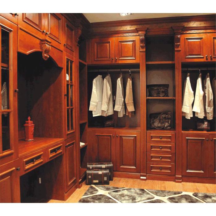 乐山照辉实木整体衣柜