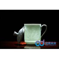 景德镇陶瓷茶杯批发定制  影青陶瓷茶杯批发