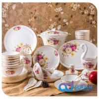 景德镇陶瓷餐具批发定制 56头餐具批发 青花陶瓷餐具