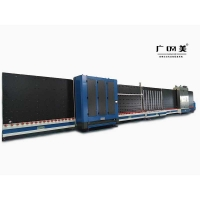 广美机械 新型全自动板内充汽中空玻璃生产线