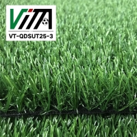高质量人造草皮地毯酒店装饰塑料三色草坪绿植绿化假草25mm