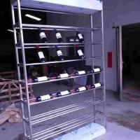黑钛拉丝不锈钢酒柜定制常温不锈钢酒柜