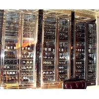 定制不銹鋼恒溫酒柜 酒吧會所定制不銹鋼紅酒架